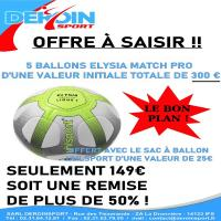 Venez profiter d'une offre exceptionnelle sur des ballons Uhlsport Elysia Match Pro et son filet !