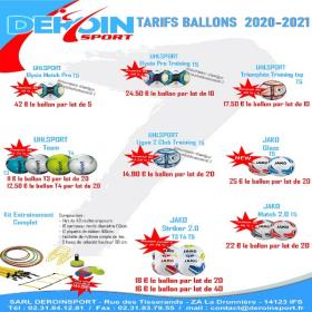 Tarif Ballons 2020-2021
