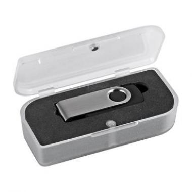 CLE USB 4 GIGAS EN METAL ET GOMME - EK81 - AVEC BOITE CADEAU MAGNETIQUE