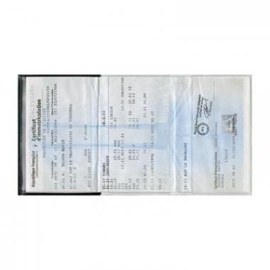 PORTE CARTE GRISE EN PVC STANDARD - WA20A